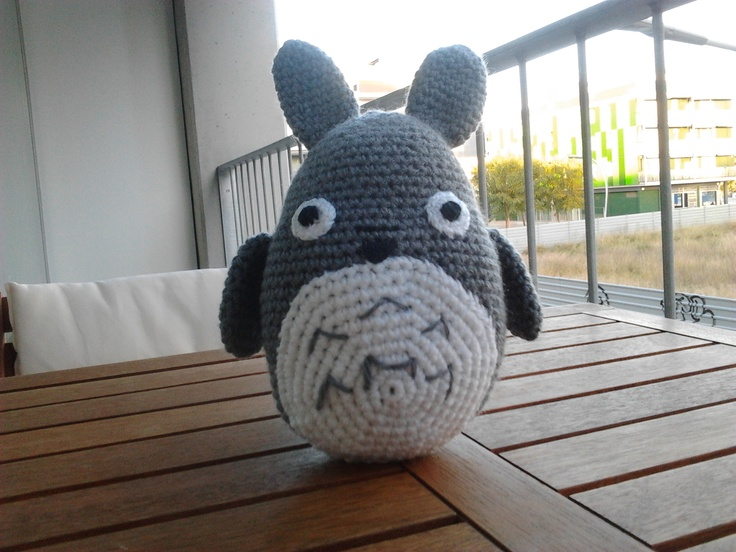 Totoro Azul Amigurumi : Patron amigurumi totoro espanol kalulu for