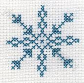 Snowflake free cross stitch pattern