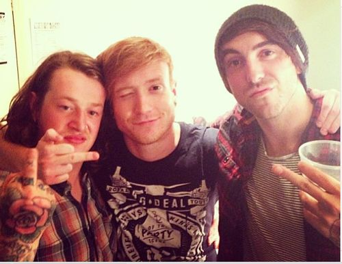 James Veck-Gilodi of Deaf Havana, Mikey Chapman of Mallory Knox and Alex Gaskarth of All Time Low
