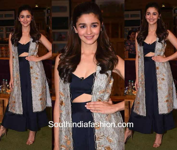 Alia Bhatt promoted her movie Badrinath Ki Dulhania on the sets of Comedy Nights with Kapil wearing a Payal Singhal ensemble.