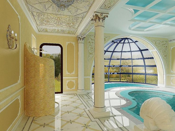 http://taizh.com/wp-content/uploads/2014/11/Artistic-house-design-with-unique-shaped-pool-design-as-well-blue-sky-ceiling-and-beautiful-floor-and-brown-wall.jpg
