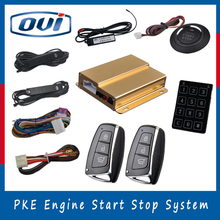 Keyless go remote start push button engine start stop system