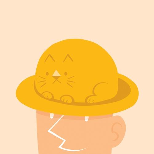 고양이 모자.