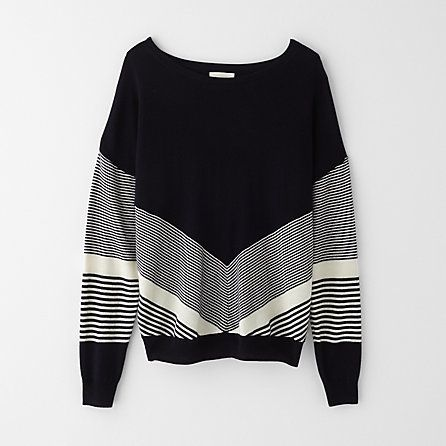BAND OF OUTSIDERS chevron sweater
