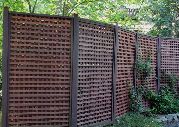 26 best images about fence scaping on pinterest lattice for Fence screening solutions