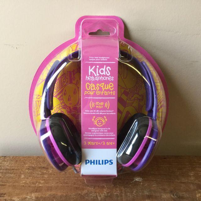 Philips SHK2000PK/27 Kids Children's Headphones Pink and Purple New 85dB Max | eBay