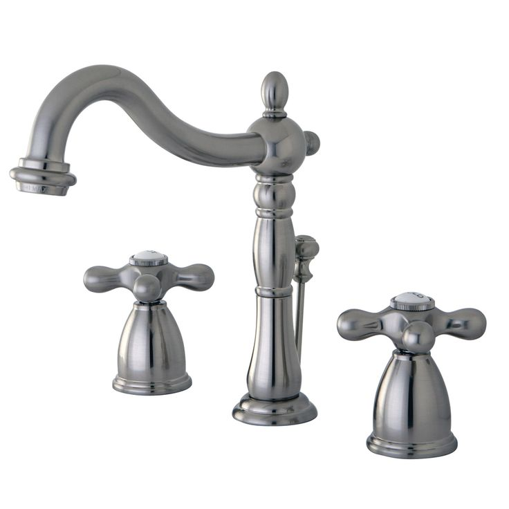 Kingston Brass Heritage Satin Nickel 2-Handle Widespread Bathroom Faucet (Drain Included)