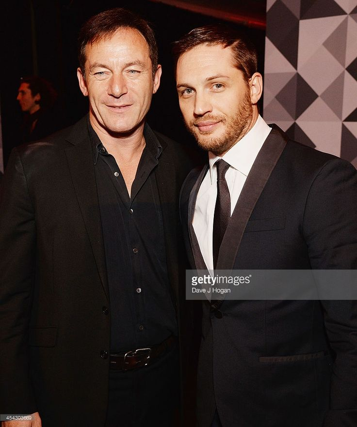 Jason Isaacs and Tom Hardy attend the Moet British Independent Film Awards 2013 at Old Billingsgate Market on December 8, 2013 in London, England.