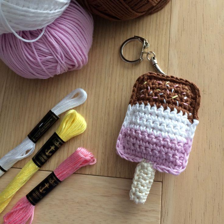 Crochet Lollipop Keyring - Fab Lolly