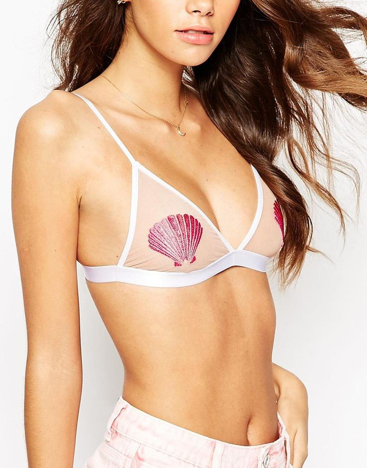 Image 3 - ASOS - Mermaid - Soutien-gorge triangle motif coquillage