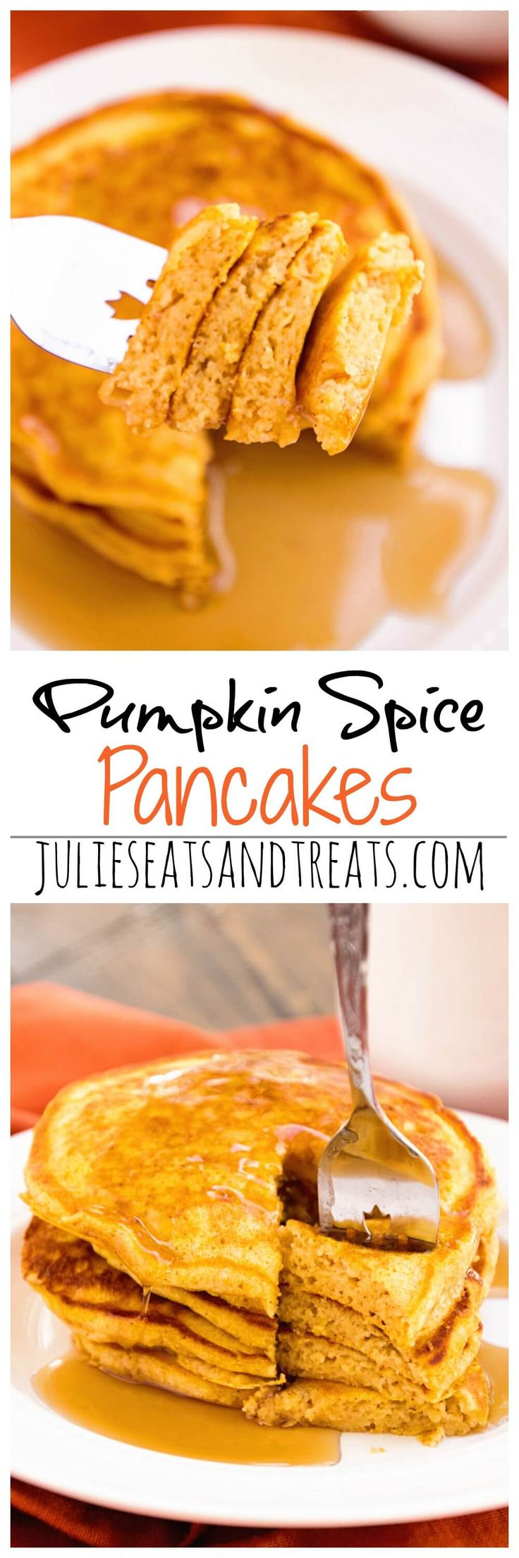 Pumpkin Spice Pancakes Recipe ~ Perfectly Light & Fluffy Homemade Pancakes with the Perfect Amount of Pumpkin & Spices!