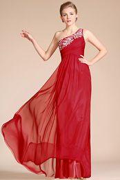 SKU: C36140202  *Une bretelle  *Faire avec le soutien-gorge intégré  *Broderie & Perles  *Zippé sur le côté   *Silk Chiffon Fabric  *Longuer de la robe (environ 155cm de l'épaule à l'ourlet devant)