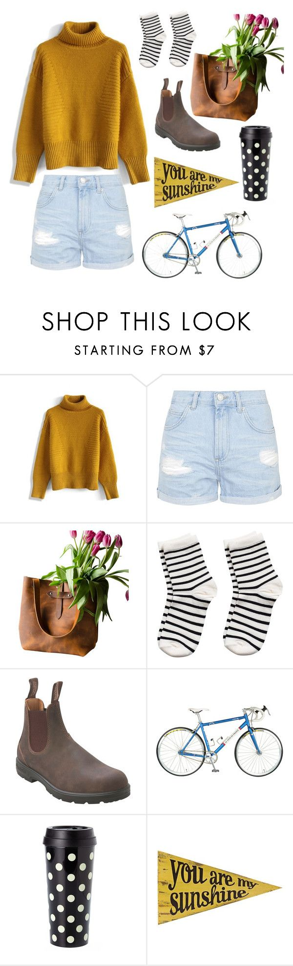 """sunshine"" by sbolger ❤ liked on Polyvore featuring Chicwish, Topshop, Pieces, Blundstone, Kate Spade, Universal Lighting and Decor, women's clothing, women's fashion, women and female"