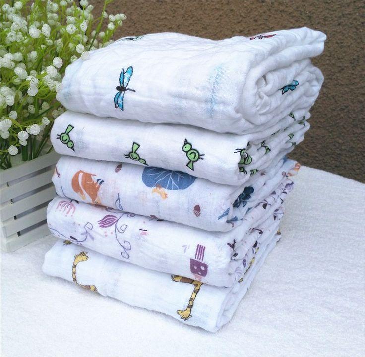 Trẻ sơ sinh Muslin Bông Mềm Bé Sơ Sinh Khăn Tắm mùa hè Chăn Quấn Đa Designs Chức Năng Bé bộ đồ giường Bọc bọc trẻ con bằng tả