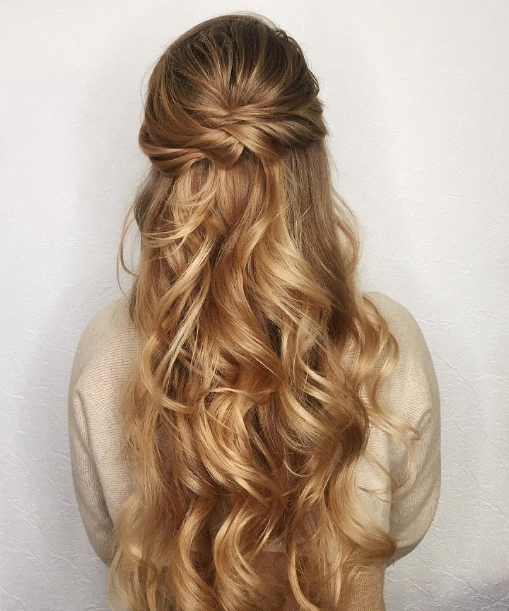 Half Up Down Wedding Hairstyle