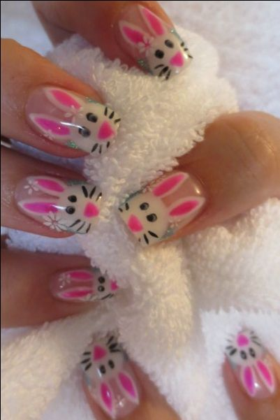25 Adorable Easter Nail Art Ideas http://www.beautifulnaildesigns.com.           I like this one!