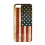 Retro Amerikaanse vlag hoesje iPhone 5