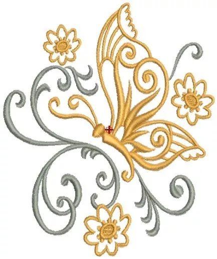 borboletas filigranas -14 matrizes de bordado comp via email