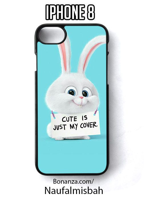 Cute Rabbit Quotes My Cover iPhone 8 Case Cover - Cases, Covers & Skins