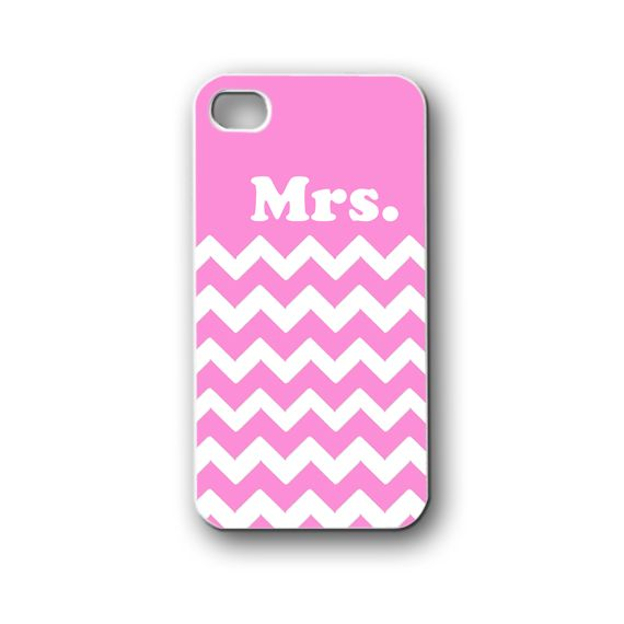 Mrs Chevron pink - iPhone 4,4S,5,5S,5C, Case - Samsung Galaxy S3,S4,NOTE,Mini, Cover, Accessories,Gift