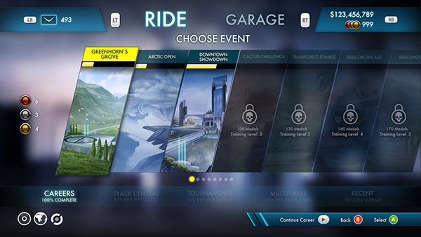 UI work done for Trials Fusion.