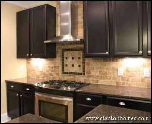 Kitchen Tile Backsplash Idea Tans Browns And Espressos This Is Our Wall Color Possibly Considering Black Cabinets
