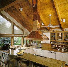 Make An Island Range Hood Vented Through Vaulted Ceiling