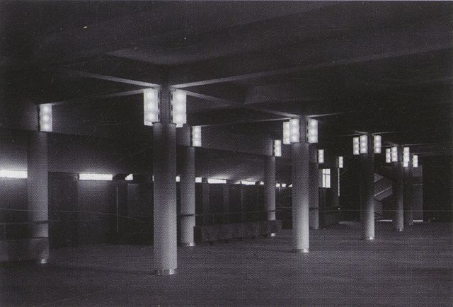 Interior of the club section of the Vesnins' ZhIL workers club, 1931 | Period photographs of Soviet avant-garde built exteriors, 1926-1934 |  via Ross Wolfe's Flickr