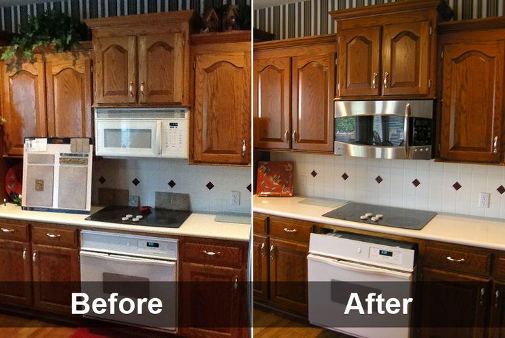 Kitchen Cabinet Refacing Also, Refinish Kitchen Cabinets Ideas