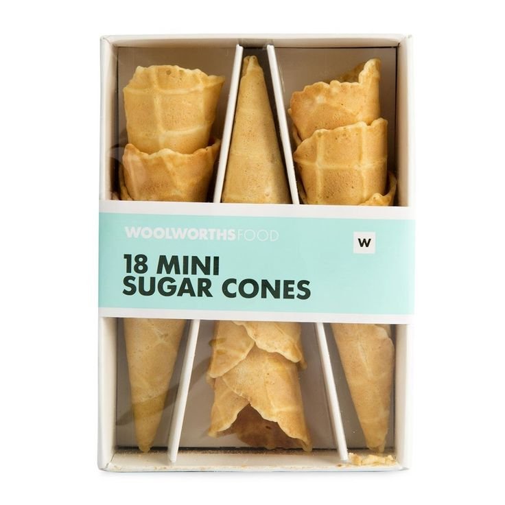 Mini Sugar Cones 18Pk