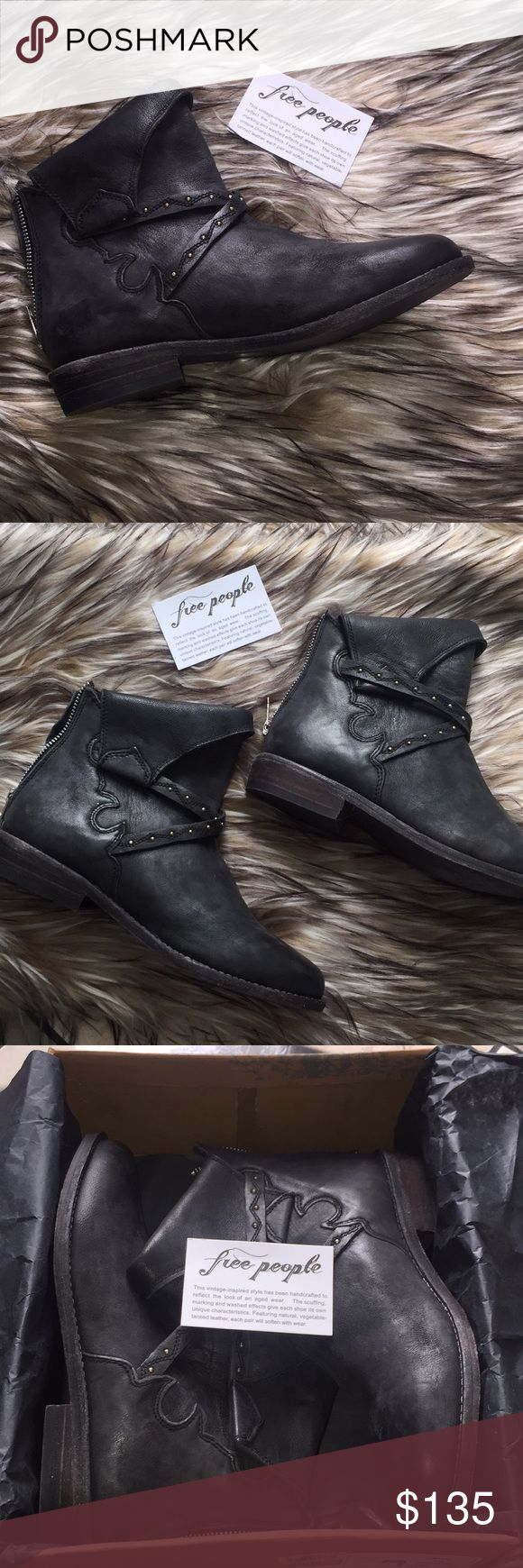 """NIB Free People """"alamosa"""" boots Size 38 or US size 8  Free People """"alamosa"""" New boots designed to look worn and vintage Silver hard ware Free People Shoes Ankle Boots & Booties"""
