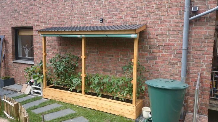 Ein Tomatenhaus ans Haus angelehnt Bauanleitung zum selber bauen