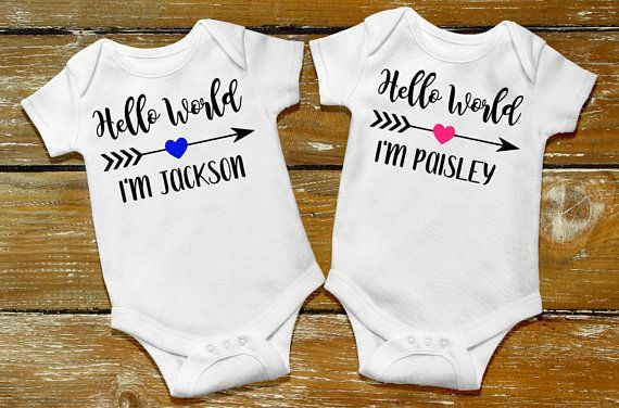 f653d552aa310 Baby Girl or baby boy Custom Name Onesie, hello world, short or long  sleeve, newborn, personalized baby shower gift, baby announcement