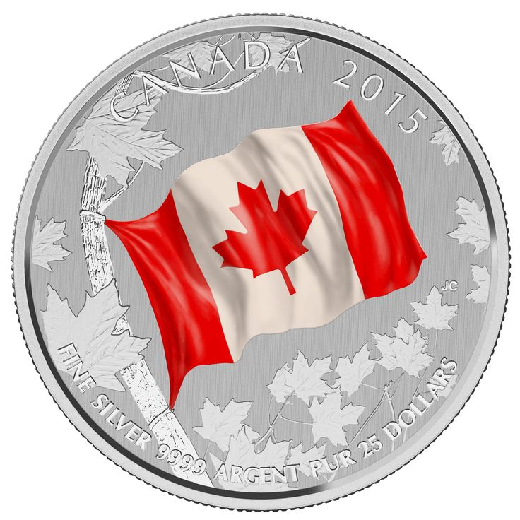 For the first time ever, the popular $20 for $20 series will feature a $25 for $25 coloured coin in celebration of the 50th anniversary of the Canadian flag.
