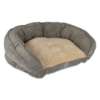 @Overstock - SnooZZy Gray Gusset Couch Pet Bed - This high-quality, soft