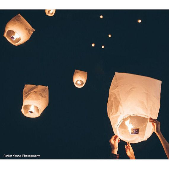 ECO FRIENDLY LANTERN Sky Paper Floating by KitAndCaboodleSupply