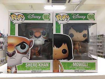 Funko Pop DISNEY Mowgli & Shere Khan The Jungle Book Vaulted and Rare | eBay