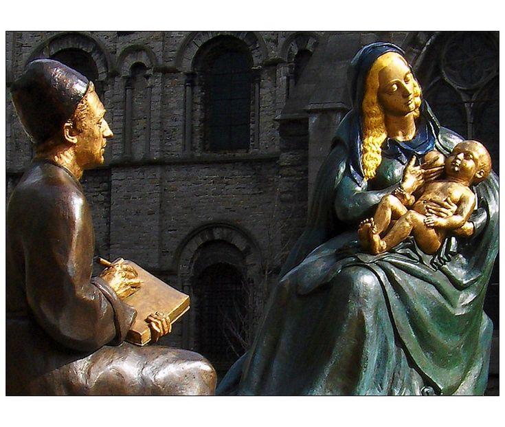 Saint Luc peignant la Vierge - Robert Campin - Tournai