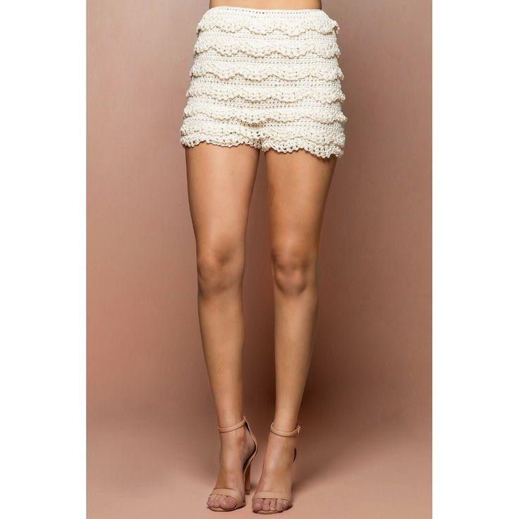 Cameron fuera de ganchillo Pantalones cortos - Vanessa Montoro EE.UU. - vanessamontorolojausa