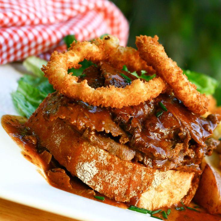 ArtandtheKitchen: Hot Roast Beef Sandwich