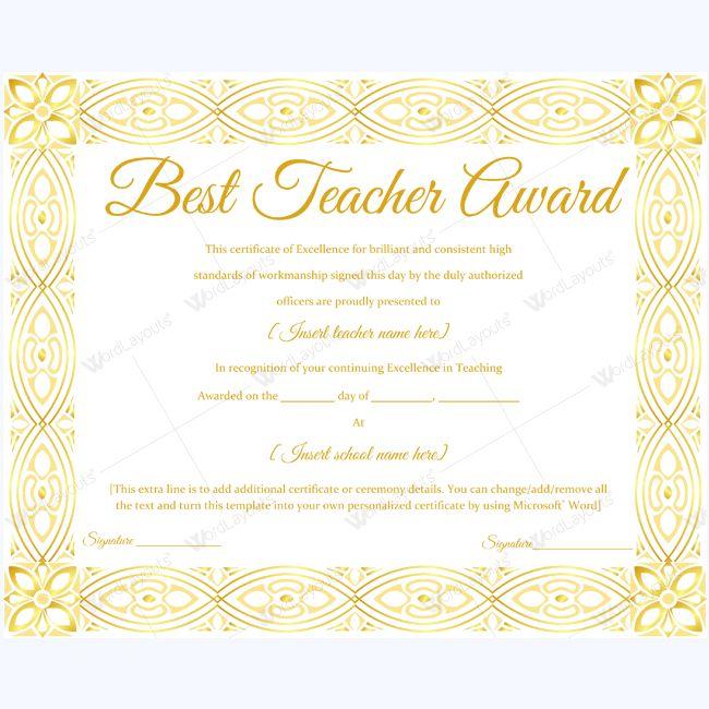Best teacher award essays