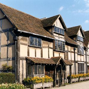 Shakespeares Birthplace on Henley Street, Stratford-upon-Avon, Warwickshire, England