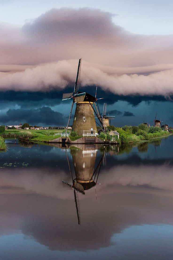 Windmills . Kinderdijk the Netherlands