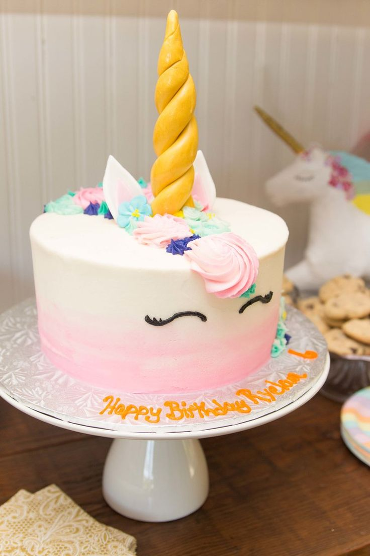 Last month my cousin Randi hosted a unicorn-themed party for her daughter's sixth birthday and she knocked it out of the park. Every detail was so well-thought-out and most importantly, the birthday girl had a blast! The birthday cake was a custom banana bread cake from local bakery Nutphrees. Thei