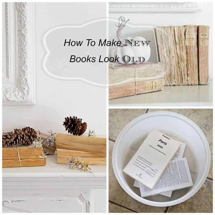 DIY * How To Make New Books Look Old | Shabbyfufu