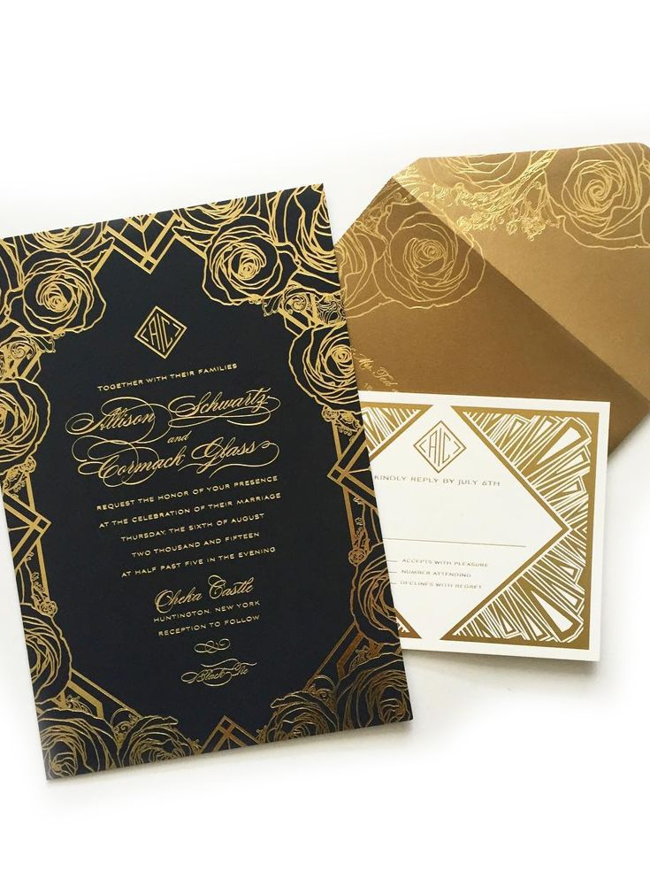african wedding invitations uk%0A Art Deco wedding invitations with gold foils by Atelier Isabey