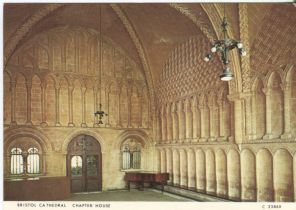 Judges Postcard, Bristol Cathedral, Chapter House, C2386X