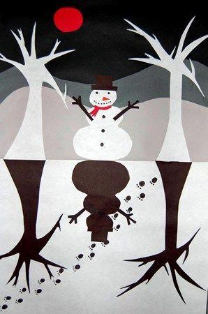 frozen winter landscape collage
