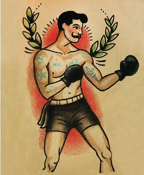 Boxer Tattoo Flash | KYSA #ink #design #tattoo