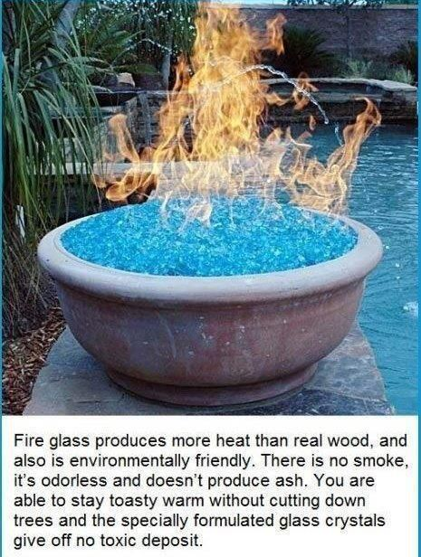 Fire Glass.. instead of fire pit.